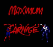Spider-Man & Venom - Maximum Carnage Title Screen